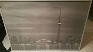 Picture & Frame TORONTO SKYLINE Gray LIKE NEW - LARGE