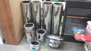 Insulated chimney pieces for wood stove or fireplace