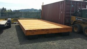 Yellow cedar 10' x 20' dock, warf