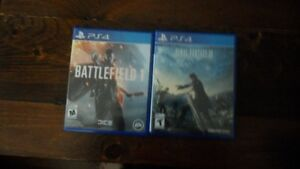 selling ff15 and battlefield 1 ($55 each)