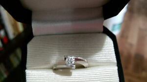 Diamond Solitaire Engagement Ring - White Gold