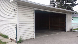 Oversized Insulated Double Detached Garage 200m from Banff Trail