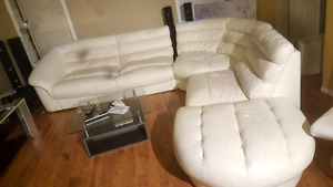 Luxury genuire leather sectional