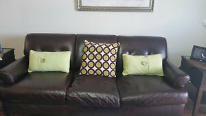 Austin Taylor Leather Sofa