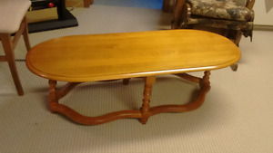 Solid Maple Coffee Table and End Table