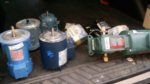Electric Motors and Gear Reducers (7 items one money)