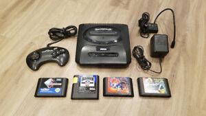 Ensemble Sega Genesis avec 4 jeux