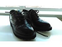 NEW Black Patent Leather Women's Brogues Size 4