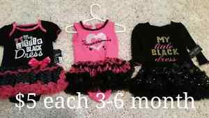 0-3, 3-6 month girls outfits