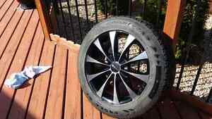 Kmc fader rims used for 2 seasons comes with tires
