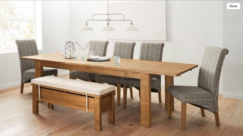 Next Hartford Double Extending Dining Table