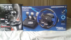 PS3 and PS4 THRUSTMASTER steering wheel T-150 PRO, TH8A shifter
