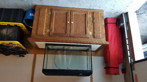 Fish tank and oak stand