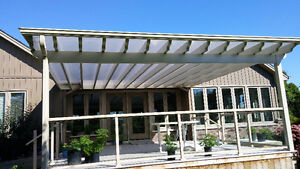 protect your deck with a   Patio Covers, Pergolas, Clear Roofs