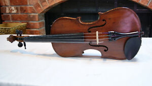ANTIQUE VINTAGE GERMAN SHEPHERD VIOLIN
