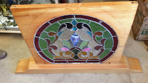 GORGEOUS FRAMED  STAINED GLASS WINDOWS round