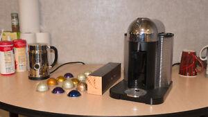 Nesspresso Virtuoline - Coffee Machine + Aeroccino Edmonton Edmonton Area image 1