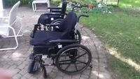 Two light weight folding wheel chairs $150