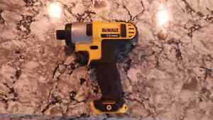 12 v dewalt impact ( battery and charge included) need it gone