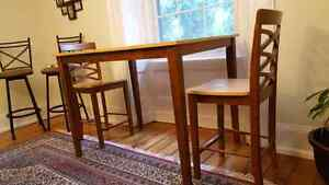 High Dining Table with 4 Matching Chairs $200 OBO Cambridge Kitchener Area image 1