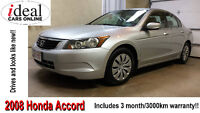 2008 Honda Accord LX Sedan---3 Month Warranty included !!