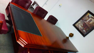 Exquisite Solid Brazillian Cherry Wood Board Room Table