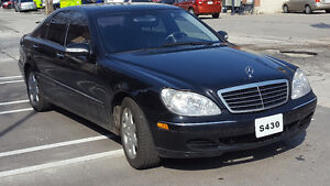 2003 Mercedes-Benz S-Class 430 Sedan - 4-Matic - Black Leather