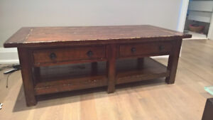 Crate & Barrel rustic country style coffee table