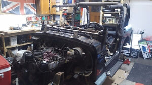 1997 Jeep TJ frame, motor and drive train