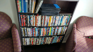 300 Dvds and some BluRay with shelf