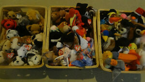 Collection of 65 TY Beanie Baby's