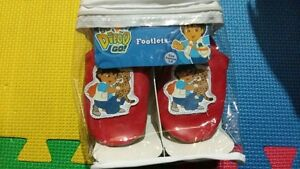 Go Diego Go Red Footlets Child Toddler Shoes
