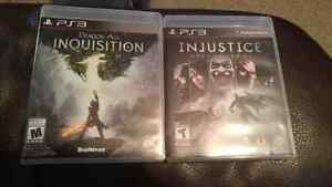 PS3 Dragon Age Inquisition and Injustice: Gods Among Us