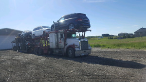 Car carrier with single turbo cat c15