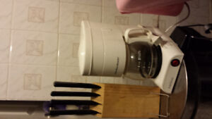 Brand new ikea 4 piexes knife set;  used coffee maker