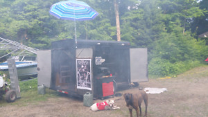Toy hauler and sleep in trailer