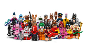serie complète lego minifigures batman movie 71017