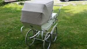 Vintage baby pram buggy carriage coach