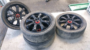 17 rims ..4x1o0. .4x114.3 tires are junk ( Westbank )