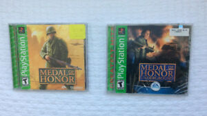 """Medal of Honor""& ""Medal of Honor : Underground"" (PS1) - NEW"