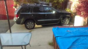 2008 Jeep Grand Cherokee Black SUV, Crossover