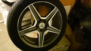 Mercedes tires and rims 235 45 R18.