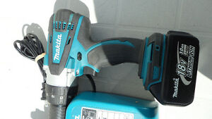 Makita DHP458 18 Volt Hammer Drill and Charger $180 Prince George British Columbia image 5