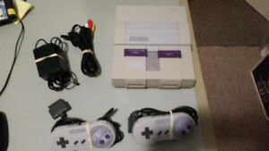 SUPER NINTENDO SNES SYSTEM AND GAMES