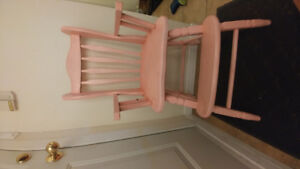 Solid wood toddler chair