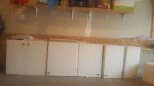 white kitchen cabinets( uppers )