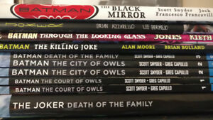 BATMAN. JOKER. GRAPHIC NOVELS. DC COMICS.