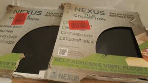 Nexus Black 12 in. x 12 in. Peel and Stick Solid Vinyl Tile