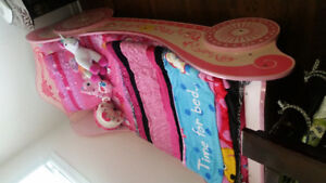 Twin bed ( pink car bed)