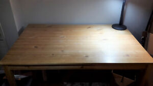 WOODEN TABLE (two available) - IKEA INGO - HEAVILY DISCOUNTED